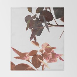 Leaves Spring Nature Throw Blanket