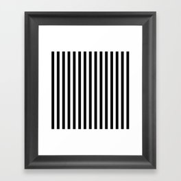 Stripe Black And White Vertical Line Bold Minimalism Stripes Lines Framed Art Print