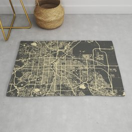 Denver map yellow Rug