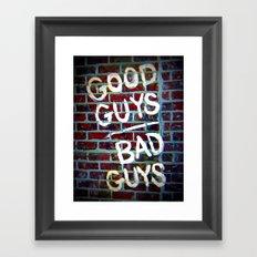 Good Guys Framed Art Print