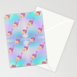 Nail Polish Emoji Pastel Stationery Cards