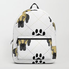 Faun Great Dane Paw Print Pattern Backpack