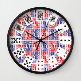 texture playing cards Wall Clock