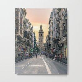 Valencia's sunset Metal Print