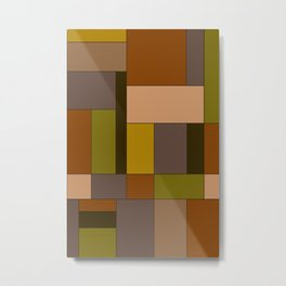 Abstract #370 Mondrian #6 Metal Print