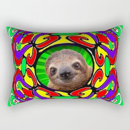 Psychedelic Sloth Rectangular Pillow