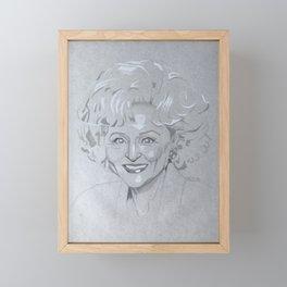 Betty White Framed Mini Art Print