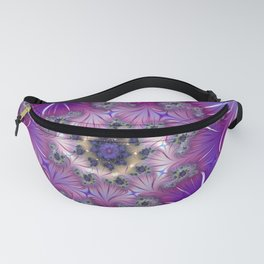 Spiral purple Fanny Pack