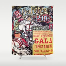Medieval Gala Opera Paris 1886 Shower Curtain