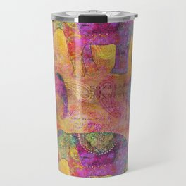 Elephant Pattern colorful orange pink Travel Mug