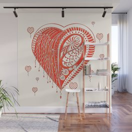 Thorny Heart Wall Mural