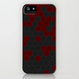 Hex Red iPhone Case