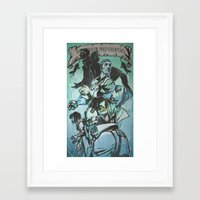 dishonored Framed Art Prints featuring Biohonored by vicious mongrel