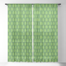Evergreen Forest Pattern Sheer Curtain