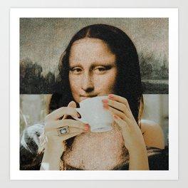 mona lisa x her espresso Art Print