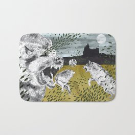 Ring of Wolves Bath Mat