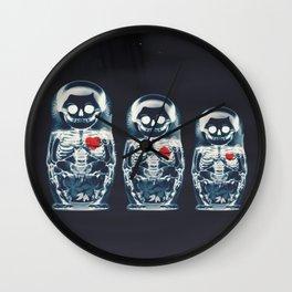 Nesting Doll X-Ray Wall Clock