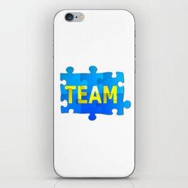 Team Jigsaw Puzzle iPhone Skin