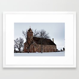 Wintertime Chapel Framed Art Print