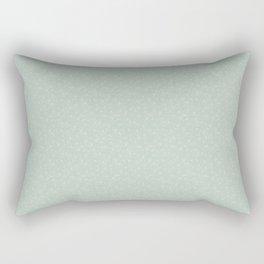 Teal Scattered Gingko Leaves Rectangular Pillow