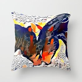 I Spotted Horses Throw Pillow
