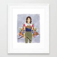 allison argent Framed Art Prints featuring Allison Argent, tribute by strangehats