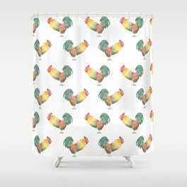 Year of the Rooster Shower Curtain