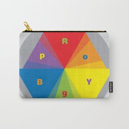 Color wheel by Dennis Weber / Shreddy Studio with special clock version Carry-All Pouch