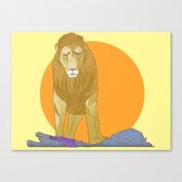 A Lion Untamed Canvas Print