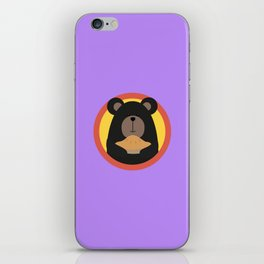 Grizzly with cake in circle iPhone Skin