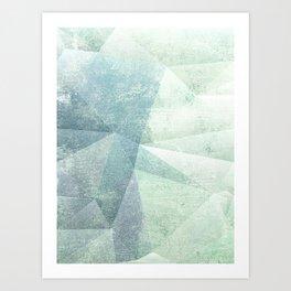 Frozen Geometry - Teal & Turquoise Art Print