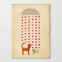 valentines Canvas Prints featuring Valentines by Joanne Hawker