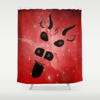 demon Shower Curtains featuring The Demon by minx267