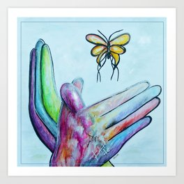 American Sign Language BUTTERFLY Art Print