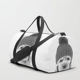 Black and White Cocker Spaniel Duffle Bag
