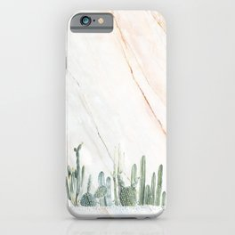 Marble Cactus iPhone Case