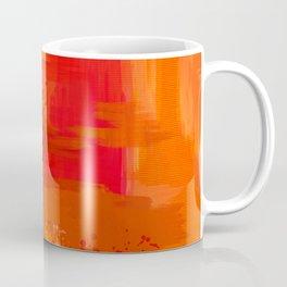 """Abstract Ocher Porstroke"" Coffee Mug"