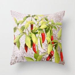 Thai Peppers Throw Pillow