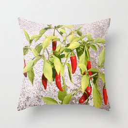 Thai Peppers Throw Pillow