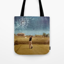 Broken Glass Sky Tote Bag