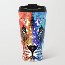 Lion Art - Majesty - Sharon Cummings Travel Mug