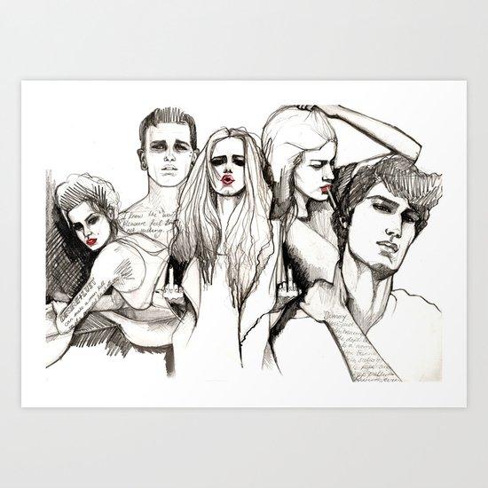 Bad crowd Art Print