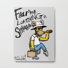 Fear and Loathing in Springfield Metal Print