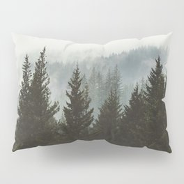 Forest Fog Mountain IV - Wanderlust Nature Photography Pillow Sham