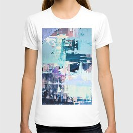 February Morning: a vibrant abstract painting in blue and purple by Alyssa Hamilton Art  T-shirt