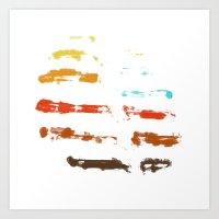 Whispering Leaves III Art Print