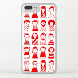 Little dolls Clear iPhone Case