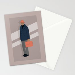Trilby and Briefcase Stationery Cards
