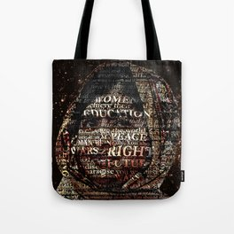One Book, One Pen, One Child, and One Teacher Can Change The World !!! Tote Bag
