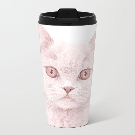 cat 4 Metal Travel Mug